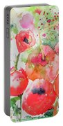 Illusions Of Poppies Portable Battery Charger