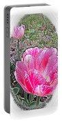 Illustrated Rose Vignette Portable Battery Charger