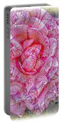 Illustration Rose Pink Portable Battery Charger