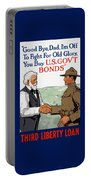 I'm Off To Fight For Old Glory - Ww1 Portable Battery Charger by War Is Hell Store