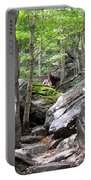 Image Included In Queen The Novel - Rocks At Smugglers Notch Portable Battery Charger