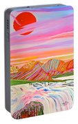 My Imagination Of China's Vast Rainbow Mountains Portable Battery Charger