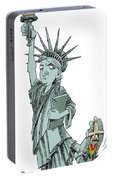Immigration And Liberty Portable Battery Charger