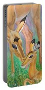 Impala Doe And Fawn Portable Battery Charger