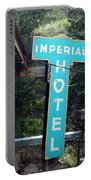 Imperial Hotel Sign In Cripple Creek Portable Battery Charger