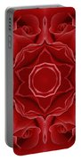 Imperial Red Rose Mandala Portable Battery Charger