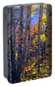 Impression Of Fall Aspens Portable Battery Charger