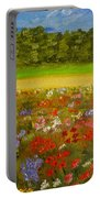 Impressionism Flowers- Pretty Posies Portable Battery Charger