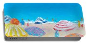 Impressionist Beach Painting Portable Battery Charger