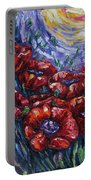 Impressionist Field Poppies Portable Battery Charger