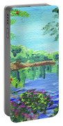 Impressionistic Landscape Xx Portable Battery Charger