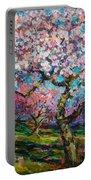 Impressionistic Spring Blossoms Trees Landscape Painting Svetlana Novikova Portable Battery Charger