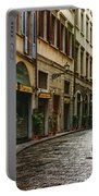 Impressions Of Florence - Walking On The Silver Street In The Rain Portable Battery Charger