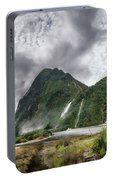 Impressive Weather Conditions At Milford Sound Portable Battery Charger