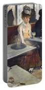 In A Cafe Portable Battery Charger by Edgar Degas