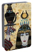 In Dreams Of Ricky Bobbie And Me In Egypt Portable Battery Charger