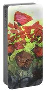Fields Of Poppies Portable Battery Charger
