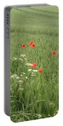 in Flanders Fields the  poppies blow Portable Battery Charger