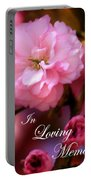 In Loving Memory Spring Pink Cherry Blossoms Portable Battery Charger