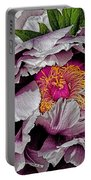 In The Eye Of The Peony Portable Battery Charger