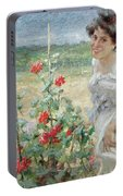 In The Flower Garden, 1899 Portable Battery Charger