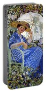 In The Garden Portable Battery Charger by Frederick Carl Frieseke