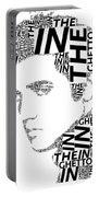 In The Ghetto Elvis Wordart Portable Battery Charger