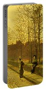 In The Golden Gloaming Portable Battery Charger by John Atkinson Grimshaw