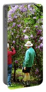 In The Lilac Garden Portable Battery Charger