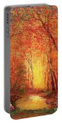 In The Presence Of Light Meditation Portable Battery Charger