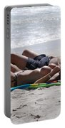 In The Sand At Paradise Beach Portable Battery Charger
