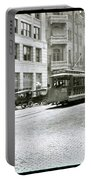 In This 1913 Photo, A Cable Car Drives Past The Littlefield Building And Dristill Hotel On Sixth Str Portable Battery Charger