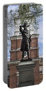 Independence Hall And Commodore Barry Portable Battery Charger