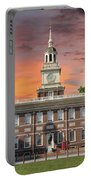 Independence Hall Philadelphia Sunset Portable Battery Charger
