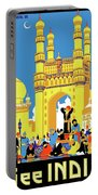 India, Castle, People, Street Portable Battery Charger