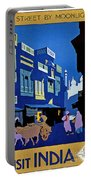 India Travel Poster Portable Battery Charger