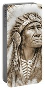Indian Chief With Headdress Portable Battery Charger