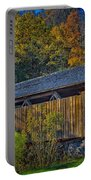 Indian Creek Covered Bridge In Fall Portable Battery Charger