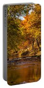 Indian Creek In Fall Color Portable Battery Charger