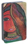 Indian Girl With Nose Ring Portable Battery Charger