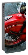 Indian Motorcycle Fender In Red Portable Battery Charger