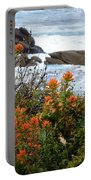 Indian Paintbrush At Point Lobos Portable Battery Charger