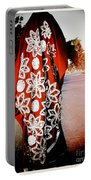 Indian Woman In Red- Vignette Portable Battery Charger