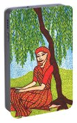 Indian Woman With Weeping Willow Portable Battery Charger