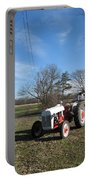 Indiana Hwy 63 South Vintage Ford Tractor Color Version Portable Battery Charger