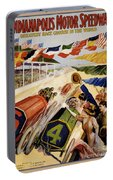 Indianapolis Motor Speedway Vintage Poster 1909 Portable Battery Charger