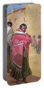 Indians Outside Taos Pueble Portable Battery Charger