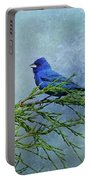 Indigo Bunting On Pine Portable Battery Charger