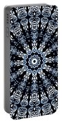 Indigo Flow Blue Kaleidoscope Portable Battery Charger