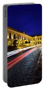 Indigo Sky And Car Lights Over Plaza Espana And Puente Nuevo Bri Portable Battery Charger